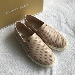 Michael Kors Blush Perforated Slip On Sneakers 6.5